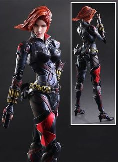 Marvel Play Arts Variant Black Widow Action Figure