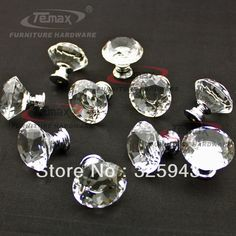 Zinc Alloy Clear Crystal Sparkle Glass Kitchen Cabinet Knobs Handles Dresser Cupboard Door Knob Pulls-in Handles & Knobs from Home Impr. Cupboard Door Knobs, Kitchen Cabinet Pulls, Glass Door Knobs, Dresser Knobs, Kitchen Handles, Kitchen Cabinets, Drawer Pulls And Knobs, Knobs And Handles, Door Pulls