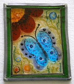 Butterfly & flower wall art £37.00
