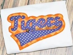 Tigers Double Vintage Stitch Applique - 6 Sizes! | Sport Teams | Machine Embroidery Designs | SWAKembroidery.com Creative Appliques