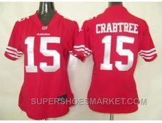http://www.supershoesmarket.com/nike-women-nfl-jerseys-san-francisco-49ers-15-crabtree-red-top-deals.html NIKE WOMEN NFL JERSEYS SAN FRANCISCO 49ERS #15 CRABTREE RED TOP DEALS Only $23.35 , Free Shipping!