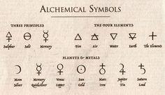 alchemy symbols tattoo - Buscar con Google                              …