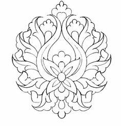 Stencil Patterns, Pattern Art, Hand Embroidery Designs, Embroidery Patterns, Persian Pattern, Persian Motifs, Islamic Art Pattern, Colouring Pages, Pyrography