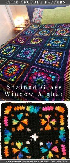 Stained Glass Afghan Square looks perfect if you looking for the effective motif to crochet the, for example, the blanket. This motif needs crocheters in Mom, do you think I could make this? Stained Glass Afghan Square Crochet Pattern and Crochet Afghans, Motifs Afghans, Crochet Squares Afghan, Crochet Diy, Crochet Motifs, Manta Crochet, Granny Square Crochet Pattern, Afghan Crochet Patterns, Crochet Crafts