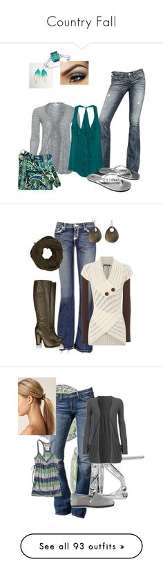 """""""Country Fall"""" by jberens ❤ liked on Polyvore featuring True Religion, Haute Hippie, Mossimo, Vera Bradley, Ice, BKE, Roland Mouret, Jane Norman, River Island and Alexis Bittar"""