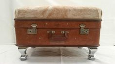 Vintage Suitcase Ottomans Ottoman Bench, Ottomans, Custom Furniture, Suitcase, Vintage, Bespoke Furniture, Suitcases, Vintage Comics, Briefcase