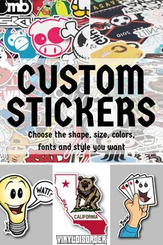 Make your design dreams come to life with our custom sticker services!