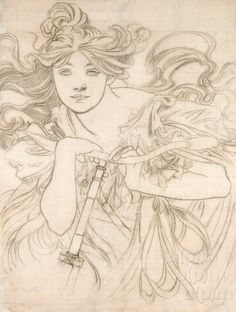 Cycles Perfecta by Alphonse Mucha, 1901 Museum of Decorative Arts in Prague Art Nouveau Mucha, Alphonse Mucha Art, Painting Inspiration, Art Inspo, Modelos Pin Up, Art Du Croquis, Art Vintage, Drawing Studies, Art Et Illustration