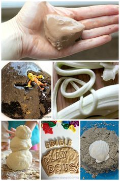 35 Three-Ingredient concoctions for kids to make at home! All of these Goops, Goos, Gaks, Slimes and Doughs require 3 simple ingredients or less.