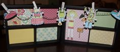 "This is using CTMH Paper Doll Stamp Set and the 5"" x 7"" Hinged Display Tray."