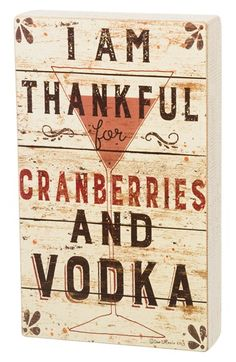 PRIMITIVES BY KATHY 'Cranberries and Vodka' Wood Box Sign available at #Nordstrom