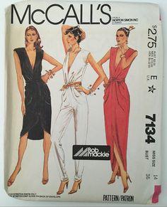McCalls 7134 1980s Bob Mackie Jumpsuit Misses by FoundinPhila