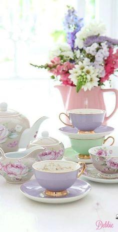 Pastel Tea ~ Debbie ❤                                                                                                                                                     More
