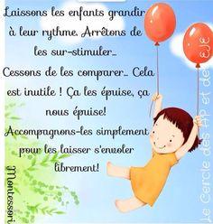 3 brigands - La classe de Teet et Marlou Education Positive, Maria Montessori, French Quotes, My Job, Positive Quotes, Coaching, Communication, Preschool, Parents