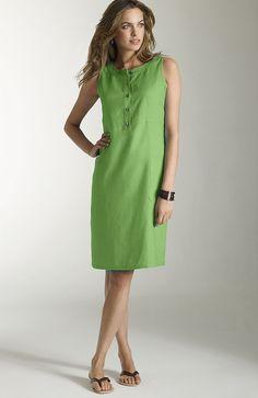 dresses > sleeveless linen dress at J.Jill