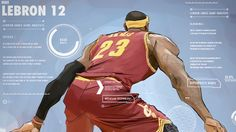LeBron James 'Nike LeBron 12 Data' Illustration
