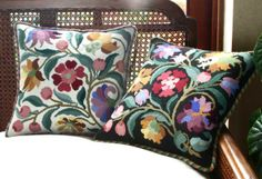 Georgian needlepoint designs - Beth Russell Bargello Needlepoint, Needlepoint Pillows, Needlepoint Designs, Needlepoint Kits, Cross Stitch Rose, Cross Stitch Flowers, Felt Embroidery, Machine Embroidery, Tapestry Kits