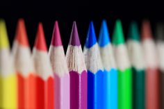 over the rainbow. World Of Color, Color Of Life, Abstract Photography, Macro Photography, Amazing Photography, Image Crayon, Irises, Photo Macro, Coloured Pencils