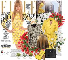 """""""Yellow"""" by pastelneon ❤ liked on Polyvore"""