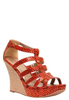 Orange snake sandals... who knew?