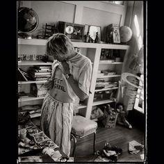 Kurt Cobain at home in Los Angeles, CA, US. 1992. Photograph by Les Guzman
