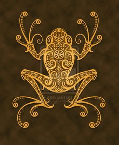 I think this is the frog tat I've been looking for for soooo long!!  Tribal Tree Frog by *Jeff-Bartels on deviantART