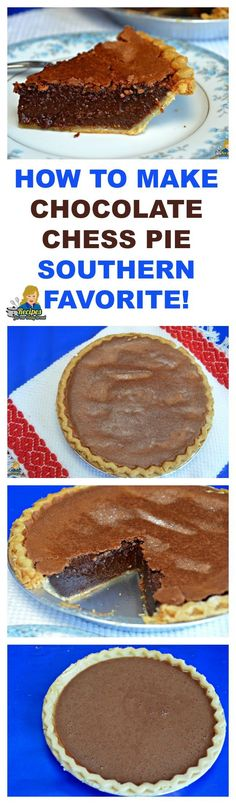 HOW TO MAKE CHOCOLATE CHESS PIE SOUTHERN FAVORITE  SEE RECIPE HERE: http://recipesforourdailybread.com/chocolate-chess-pie-southern/