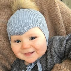 Knit Baby Hat - Cotton from Hobbii, Knit Baby Hat - Cotton Patterns Hobbii.