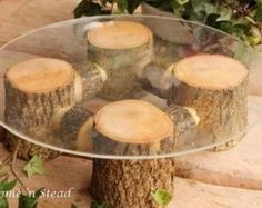 rustic wedding cake stand by mara                                                                                                                                                     More