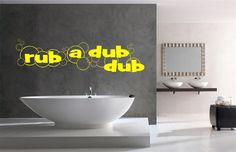 Rub A Dub Dub Bathroom Wall Decal  Soap and by StickItStickers, $15.00