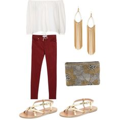 Nightout by luckylucky7 on Polyvore featuring polyvore, moda, style, Topshop, MANGO, Ancient Greek Sandals and John Lewis
