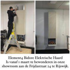 Deze Element4 Bidore Elektrische haard is heden ingebouwd in onze nieuwe showroom. Vanaf 1 maart openen wij onze deuren aan de Frijdastraat 24 te Rijswijk. Kunt u niet waxhten? Mail dan naar info@de-boers.nl of bel 0653645378 en wij komen op afspraak naar u toe. Uiteraard volgens alle voorschriften van het RIVM. De-Boers.nl. Uw haardenspecialist.