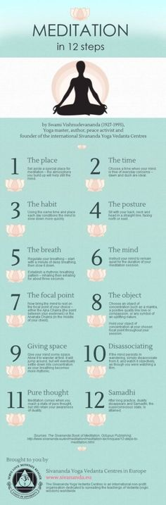 Meditation in 12 steps | Piktochart Infographic Editor learnmeditation