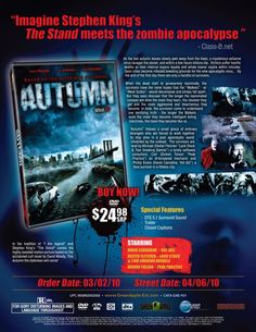 """#Horror #Thriller #Movie #Movies #IMDb #DVD #DVDs #Film #Films #zombie #zombies #apocalypse #zombiemovie #zombiemovies #zombiefilms (Short Synopsis) """"Based on the acclaimed #cult #novel by David Moody, AUTUMN is cold fear, projected 24 frames a second, """"a modern horror classic!"""" (Starring) Dexter Fletcher (Lock Stock & Two Smoking Barrels, Doom, Topsy-Turvy), Dickon Tolson (TV's Peak Practice, The Bill, EastEnders), and #DavidCarradine (Kill Bill 1 & 2, Kung Fu, Kung Fu: The Legend…"""