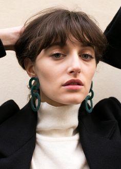 """Triple Hoop Drop Earrings Acetate w/Metal Post for Pierced Ears Approx 2.88"""" Length x 1.5"""" Widest Width Imported"""