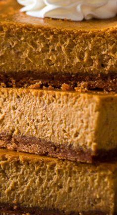 Best Pumpkin Pie, No Bake Pumpkin Pie, Pumpkin Pie Recipes, Pumpkin Dessert, Pumpkin Pie Cheesecake, Baked Cheesecake Recipe, Cheesecake Bars, Desert Recipes, Fall Recipes