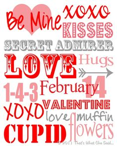 Without further ado…Here's my Valentine's Day Subway Art Printable! I have more free printables to come so make sure you are subscribed via RSS or follow me on Facebook so you can get the printables to come! Really, these are the easiest decorations ever. Add a frame of your size choice and instant decorations! You …