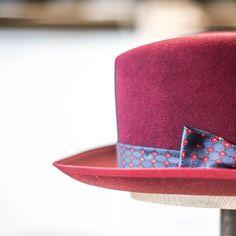 Bordeaux center crease fedora with matching brim binding & trim hand-sewn from a vintage scarf. #repost #vintage #bordeaux #handmade #custommade #hat #hats #hatmaker #madeindenmark #hornskov #københavn #hornskovkobenhavn #hatabouttown by hornskovkobenhavncom