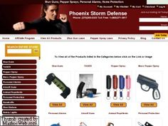 Phoenix Storm Defense. This is where to buy stun guns, pepper spray,  Tasers, Mace and many other self defence items.  http://www.phoenixstormdefense.com/view-all/