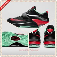 size 40 27f70 997a9 Where Can I Buy Cheap Nike KD 7 Black Action Red-Medium Mint