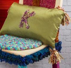 Yarn Monogram Pillow