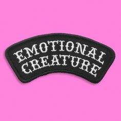 NOW SHIPPING! NEW PATCH! 🖤There seems to be a gap in human functioning/achievement and emotional depth. Imagine if practicing empathy was highly valued in our culture Punk Patches, Diy Patches, Pin And Patches, Iron On Patches, Jacket Patches, Jean Jackets With Patches, Battle Jacket, Embroidery Patches, Crochet Patterns For Beginners
