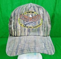 Vintage USA Made Camoflauge Hat Realtree Hunting American Tradition Cap   Realtree  BaseballCap Baseball Caps 8d53ec164e0d