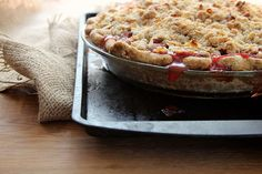 Love this recipe for Strawberry Rhubarb Pie, especially the crumble. Once I substituted the rhubarb for blueberries and it was one of my best!