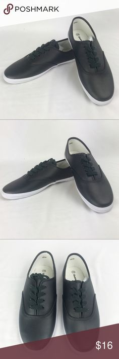 NWOB Black Low Rise Sneakers, Casual Slip Ons Brand new. Tried on but never worn. NWOB  From the beach to the city streets, east coast to west. The slip on sneaker is ready for whatever journey you take it on, whether you're an action-packed skater or just want something comfortable, classic, and casual.   Features: Rubber sole Man Made upper Laces Shoes Sneakers