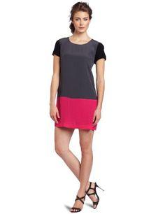 Kensie Women's Modern Crepe Color Block Dress « Clothing Impulse