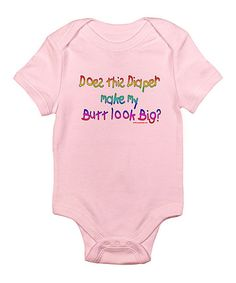 Take a look at this Petal Pink Diaper Woes Bodysuit - Infant on zulily today!