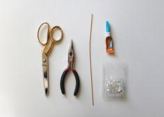 diy copper bar earrings