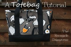 PatternPile.com - Hundreds of Patterns for Making Handbags, Totes, Purses, Backpacks, Clutches, and more.   Renegade Tote Bag � Free Tutorial   http://patternpile.com/sewing-patterns