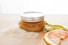 Grapefruit-Avocado Oil Sugar Scrub | All Too Lovely